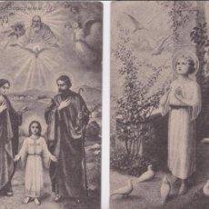 Postales: P- 4185. PAREJA DE POSTALES RELIGIOSAS. ESTAMPERIA M. SALA.. Lote 54559576