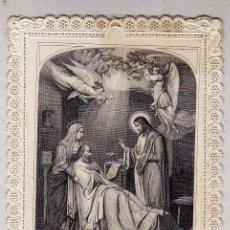 Postales: ESTAMPA DE PUNTILLA. LA MUERTE DE SAN JOSE. 11 X 8 CM MAISON ALCAN. PARIS.. Lote 54561468