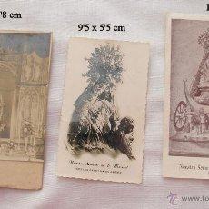 Postales: LOTE DE TRES FOTOS Y UNA ESTAMPA RELIGIOSA. Lote 54741807