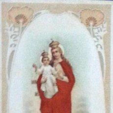 Postales: POSTAL ANTIGUA RELIGIOSA EN RELIEVE. NTRA. SRA. DEL CARMEN. ESCRITA Y FECHADA EN 1909. . Lote 54931324