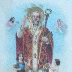 Postales: POSTAL ANTIGUA RELIGIOSA. SAN NICOLÁS. RELIEVES DORADOS. AÑO 1966. Lote 54933057