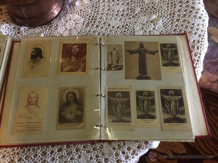 ANTIGUO 2 ALBÚM / COLECCIÓN DE ESTAMPA / ESTAMPAS RELIGIOSAS DE CRISTO Y SAGRADO CORAZÓN DE JESUS (Postales - Postales Temáticas - Religiosas y Recordatorios)