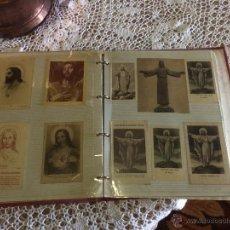 Postales: ANTIGUO 2 ALBÚM / COLECCIÓN DE ESTAMPA / ESTAMPAS RELIGIOSAS DE CRISTO Y SAGRADO CORAZÓN DE JESUS . Lote 54994853