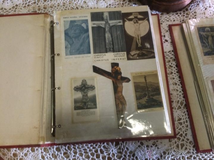 Postales: Antiguo 2 albúm / colección de estampa / estampas religiosas de cristo y sagrado corazón de Jesus - Foto 2 - 54994853