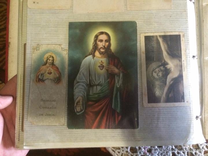 Postales: Antiguo 2 albúm / colección de estampa / estampas religiosas de cristo y sagrado corazón de Jesus - Foto 3 - 54994853