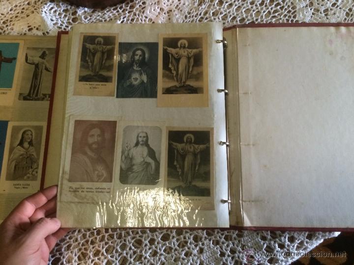 Postales: Antiguo 2 albúm / colección de estampa / estampas religiosas de cristo y sagrado corazón de Jesus - Foto 4 - 54994853