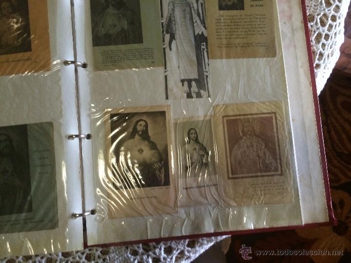 Postales: Antiguo 2 albúm / colección de estampa / estampas religiosas de cristo y sagrado corazón de Jesus - Foto 5 - 54994853