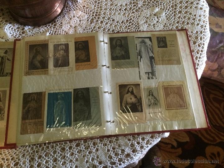 Postales: Antiguo 2 albúm / colección de estampa / estampas religiosas de cristo y sagrado corazón de Jesus - Foto 6 - 54994853