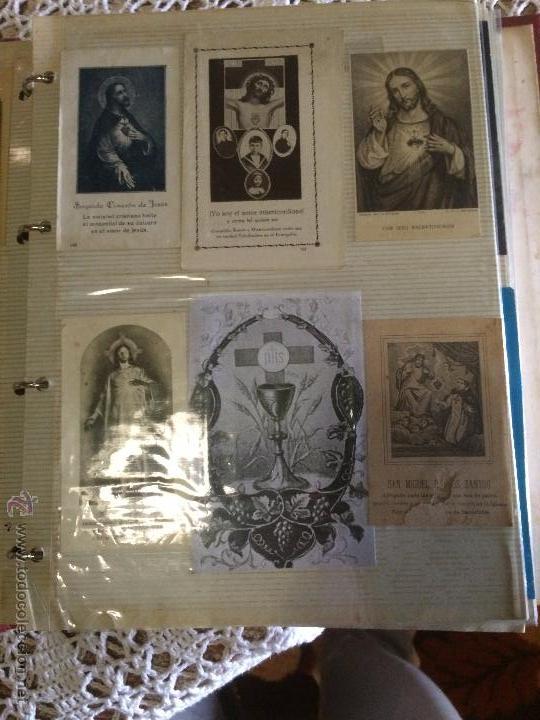 Postales: Antiguo 2 albúm / colección de estampa / estampas religiosas de cristo y sagrado corazón de Jesus - Foto 8 - 54994853