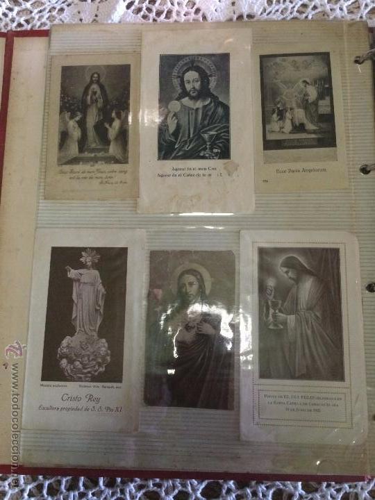 Postales: Antiguo 2 albúm / colección de estampa / estampas religiosas de cristo y sagrado corazón de Jesus - Foto 9 - 54994853
