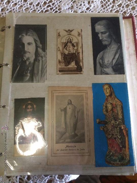 Postales: Antiguo 2 albúm / colección de estampa / estampas religiosas de cristo y sagrado corazón de Jesus - Foto 10 - 54994853