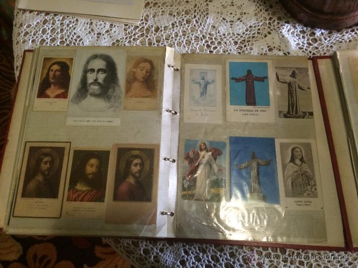 Postales: Antiguo 2 albúm / colección de estampa / estampas religiosas de cristo y sagrado corazón de Jesus - Foto 11 - 54994853