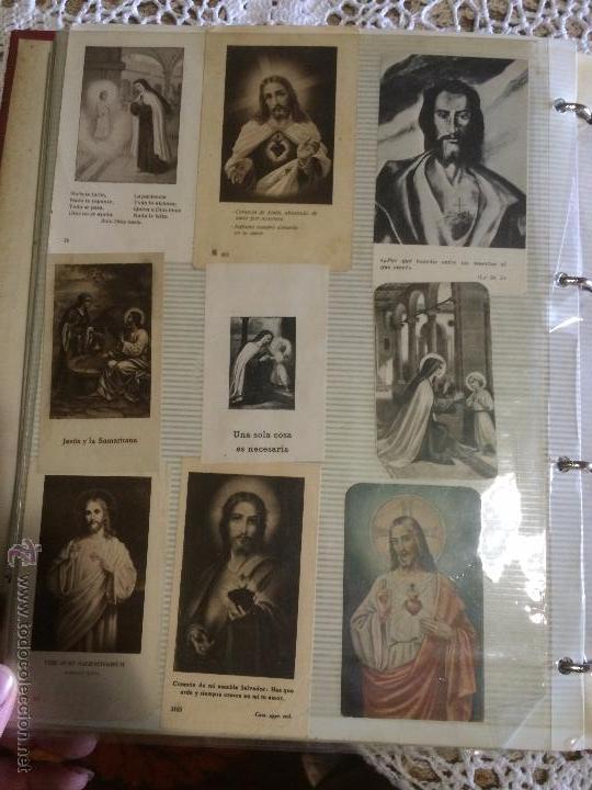Postales: Antiguo 2 albúm / colección de estampa / estampas religiosas de cristo y sagrado corazón de Jesus - Foto 12 - 54994853