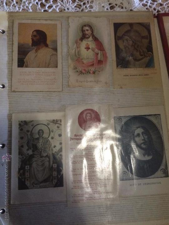 Postales: Antiguo 2 albúm / colección de estampa / estampas religiosas de cristo y sagrado corazón de Jesus - Foto 13 - 54994853