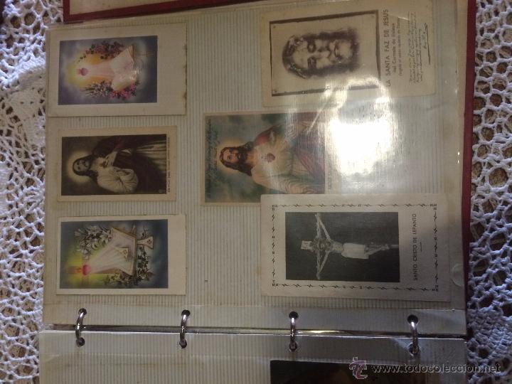 Postales: Antiguo 2 albúm / colección de estampa / estampas religiosas de cristo y sagrado corazón de Jesus - Foto 15 - 54994853