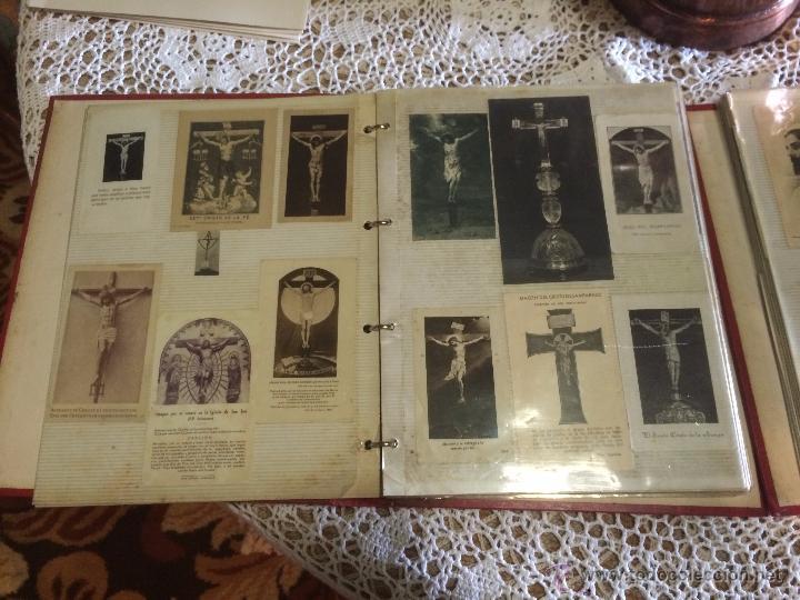 Postales: Antiguo 2 albúm / colección de estampa / estampas religiosas de cristo y sagrado corazón de Jesus - Foto 16 - 54994853