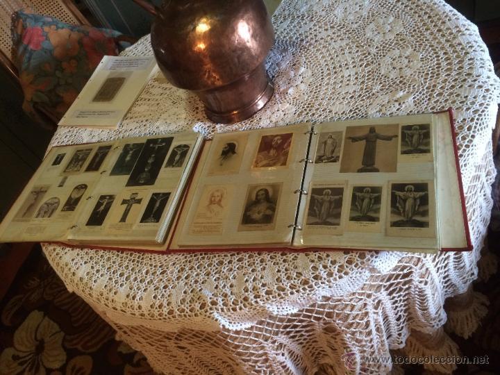 Postales: Antiguo 2 albúm / colección de estampa / estampas religiosas de cristo y sagrado corazón de Jesus - Foto 17 - 54994853