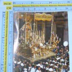 Postales: POSTAL RELIGIOSA SEMANA SANTA. MÁLAGA. AÑO 1962. PROCESIÓN PASO POR CARRETERÍA GUARDIA CIVIL. 111. Lote 112750344