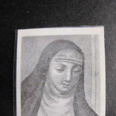 Postales: ESTAMPA RELIGIOSA URSULA MICAELA MONJAS CAPUCHINAS CON RELIQUIA. Lote 55063582