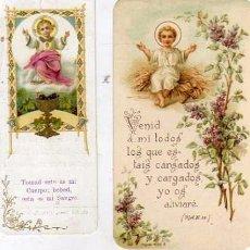 Postales: LOTE DE ESTAMPAS RELIGIOSAS NIÑOS JESUS, VARIOS TAMAÑOS 11 X 6 CM Y 11 X 4,50 CM. Lote 55181193
