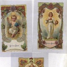 Postales: LOTE DE 3 ESTAMPAS DEL NIÑO JESUS. 12 X 6,50 CM. Lote 55190067