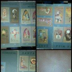 Postales: ALBUM CATALOGO RELIGIOSO 121 ESTAMPAS FIDES LITURGICAS BELGAS FIDES SEMINARIO DE MISIONES BURGOS. Lote 55378412