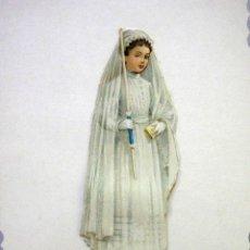 Postales: MARAVILLOSA POSTAL DE COMUNIÓN, TROQUELADA, C/IMAGEN GOFRADA PEGADA, 1900S. Lote 55929260