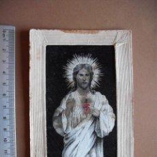 Postales: , RELIEVE TRAMADO DE HILO IMPRESION, EL CORAZON DE JESUS, 1919. Lote 56010024