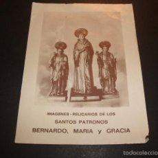 Postales: ALCIRA VALENCIA SANTOS BERNARDO, MARIA Y GRACIA ESTAMPA. Lote 194966710