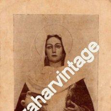 Postales: SEMANA SANTA MALAGA,1938, GUERRA CIVIL, ESTAMPA RECUERDO BENDICION MARIA SANTISIMA DE LA PAZ. Lote 56388744