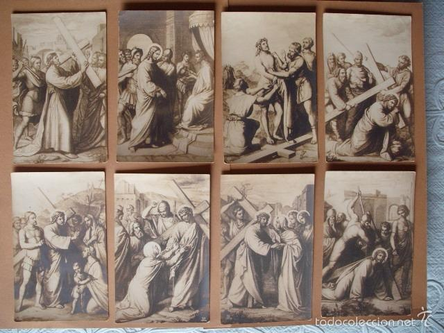 VIA CRUCIS, XIX -XX. 9 POSTALES ED. GG Cº (Postales - Postales Temáticas - Religiosas y Recordatorios)