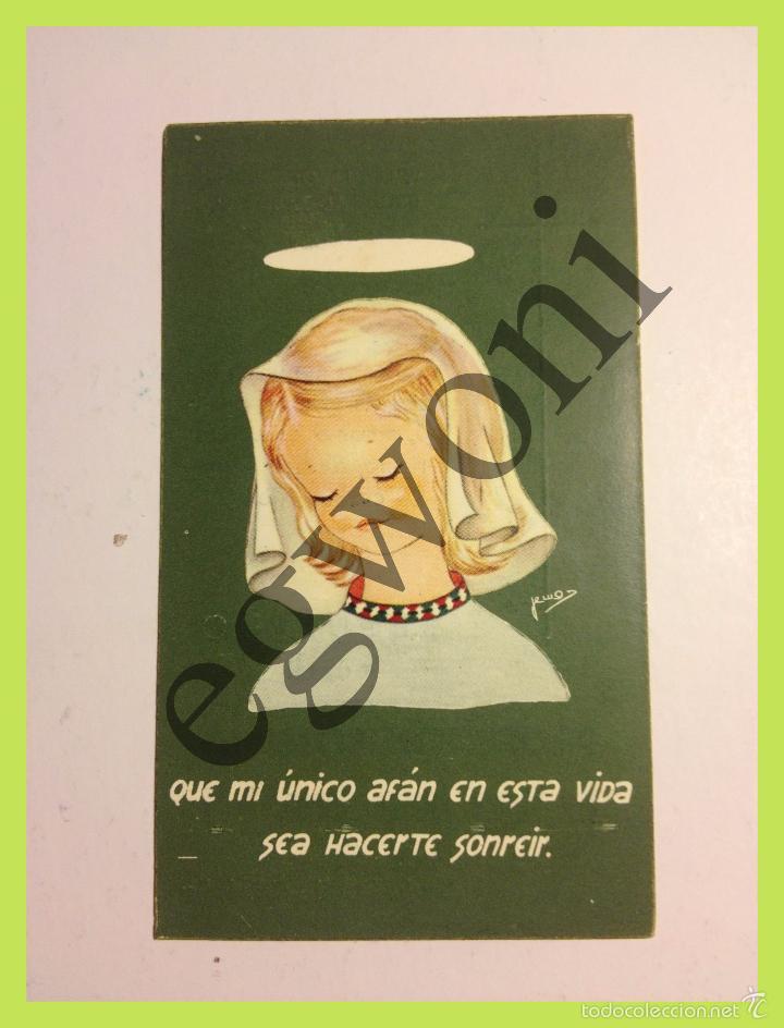ESTAMPA RELIGIOSA - RECUERDO PROFESIÓN SOLEMNE - CÓRDOBA 1963 (Postales - Postales Temáticas - Religiosas y Recordatorios)