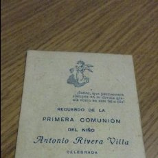 Postales: RECUERDO PRIMERA COMUNION.ANTONIO RIVERA VILLA.LA PALMA DEL CONDADO.1954.. Lote 56641358