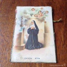 Postales: TARJETA POSTAL DE SANTA RITA Y LLAVERO IMAGEN DE LA VIRGEN. Lote 56656212