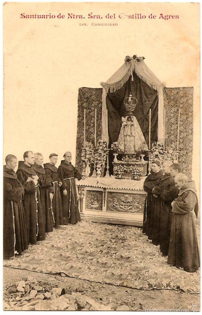 POSTAL SANTUARIO DE NTRA. SRA. DEL CASTILLO DE AGRES (ALICANTE) - 582 COMUNIDAD - SIN CIRCULAR (Postales - Postales Temáticas - Religiosas y Recordatorios)