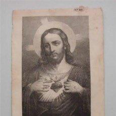 Postales: ORACIÓN AL SAGRADO CORAZÓN DE JESÚS, POR LA CONVERSIÓN DE LOS MASONES, DE LOS LIBERALES.... Lote 56723204