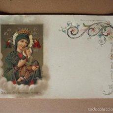 Postales: POSTAL, CON DORADOS,NA. SA. DEL PERPETUO SOCORRO . . 1900?,.. Lote 56729954
