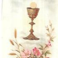 Postales: ESTAMPA ANTIGUA RELIGIOSA. RECUERDO DE LA PRIMERA COMUNIÓN. 1906. 12 X 4,3 CM.. Lote 56888489