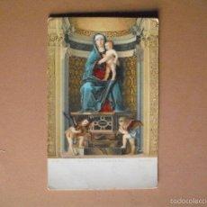 Postales: POSTAL. LA VERGINE COL BAMBINO E SANTI.DE PINTOR GIOV.BELLINI (VENEZIA, STENGEL &CO.) DREDEN 29875. Lote 56987182