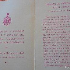 Postales: RECUERDO SOLEMNE NOVENA.COMUNION.FESTIVIDAD DULCE NOMBRE.SEVILLA,1963. Lote 57074298