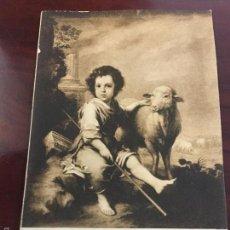 Postales: POSTAL EL NIÑO DIOS, PASTOR - MURILLO - MUSEO DEL PRADO. Lote 57188652