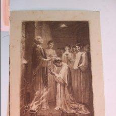 Postales: ESTAMPA RECORDATORIO ORDENACION SACERDOTAL Y PRIMERA MISA - SARRIA 1922. Lote 57280601