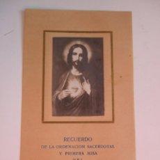 Postales: ESTAMPA RECORDATORIO - ORDENACION SACERDOTAL Y PRIMERA MISA - SARRIA 1921. Lote 57280659