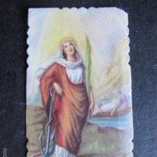 Postales: ESTAMPA RELIGIOSA ANTIGUA SANTA FILOMENA TROQUELADA. Lote 57333103