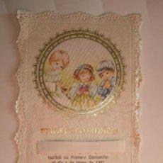 Postales: ESTAMPA RECORDATORIO COMUNION - 1987 - MALAGA. Lote 57475117