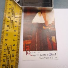 Postales: ESTAMPA RELIGIOSA BEATA SOR ANGELA DE LA CRUZ. Lote 57711382
