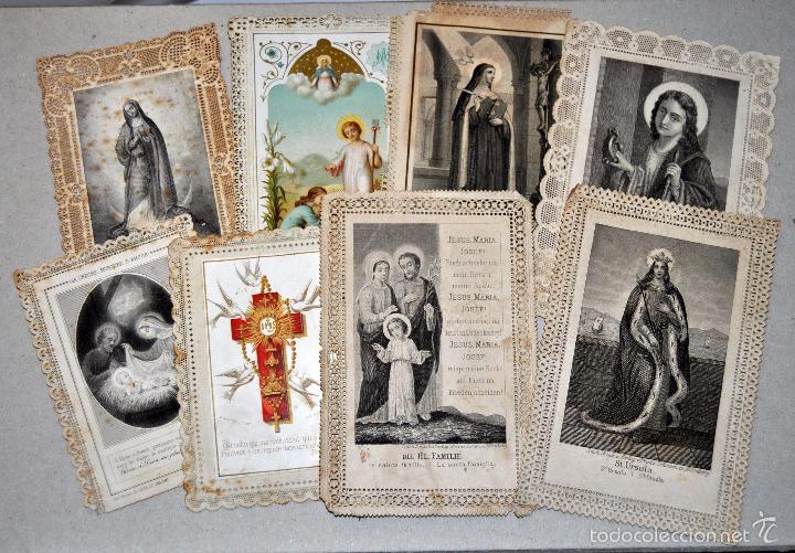 LOTE DE 8 ESTAMPAS RELIGIOSAS (Postales - Postales Temáticas - Religiosas y Recordatorios)