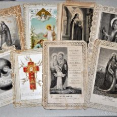 Postales: LOTE DE 8 ESTAMPAS RELIGIOSAS. Lote 57865857