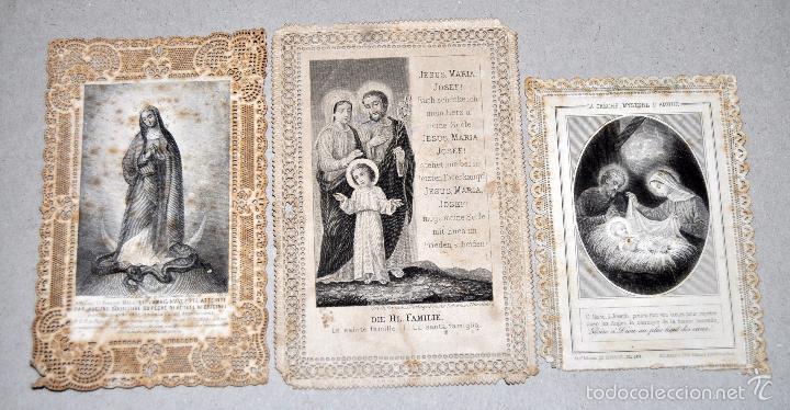 Postales: LOTE DE 8 ESTAMPAS RELIGIOSAS - Foto 3 - 57865857
