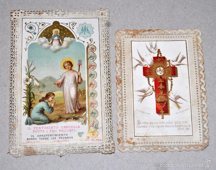 Postales: LOTE DE 8 ESTAMPAS RELIGIOSAS - Foto 5 - 57865857